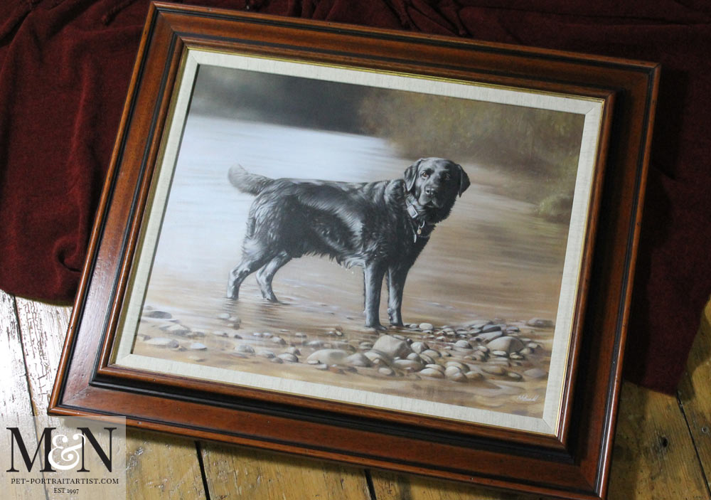 Oil Dog Portrait of Wilson