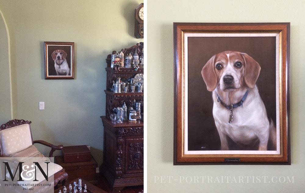 Dog Portraits - Beagle Oil Pet Portrait