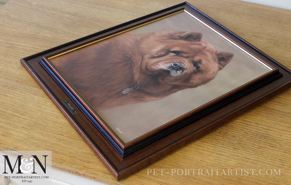 Oil Pet Portrait of Chow Murphy