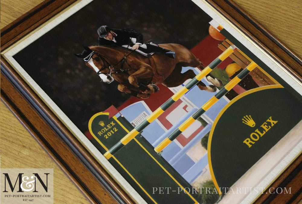 Horse Oil Painting of CC Top
