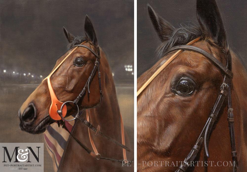 Horse Oil Portrait of Amosite