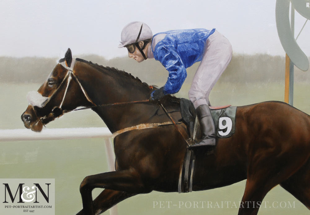 Horse Oil Painting of Merchant of Dubai