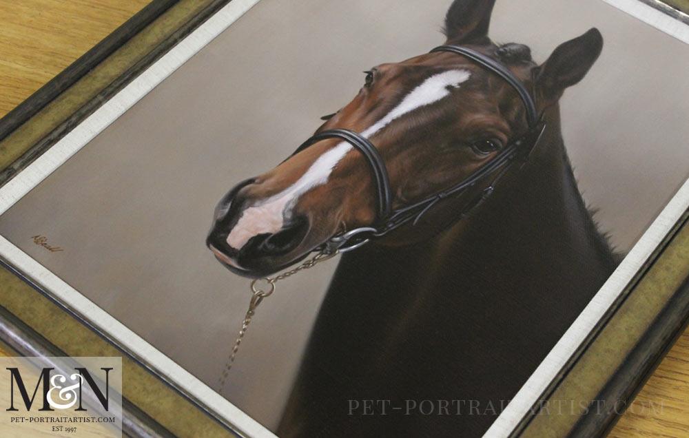 Horse Oil Portrait of Schnapps