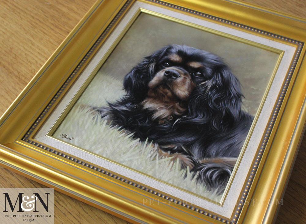 Oil Pet Portrait of Misty