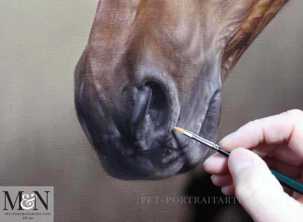 Horse Oil Painting of Ballycastle King