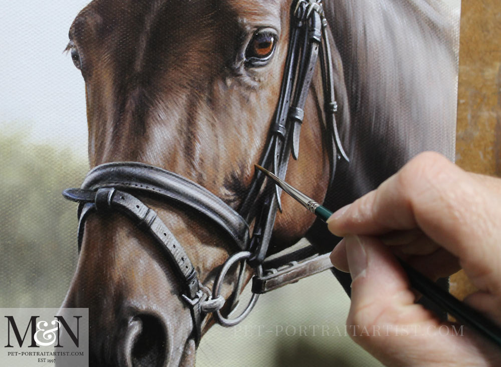 Horse Oil Portrait of Leah
