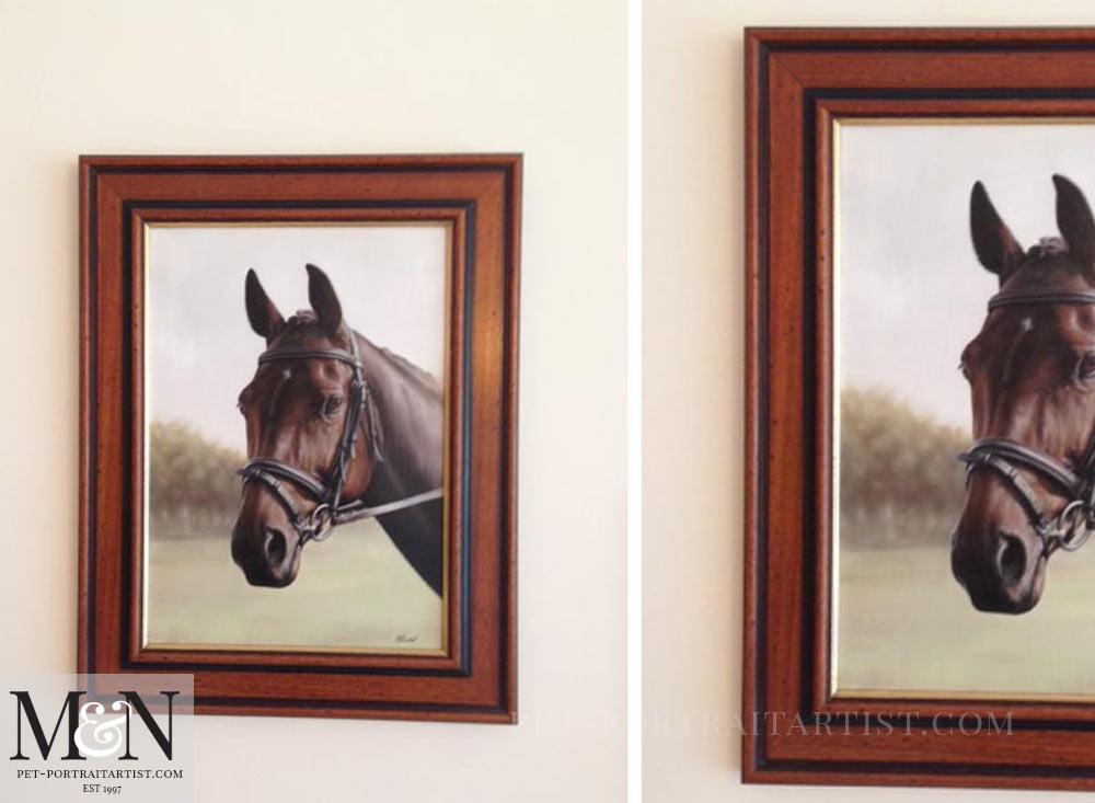 Horse Oil Portrait of Leah