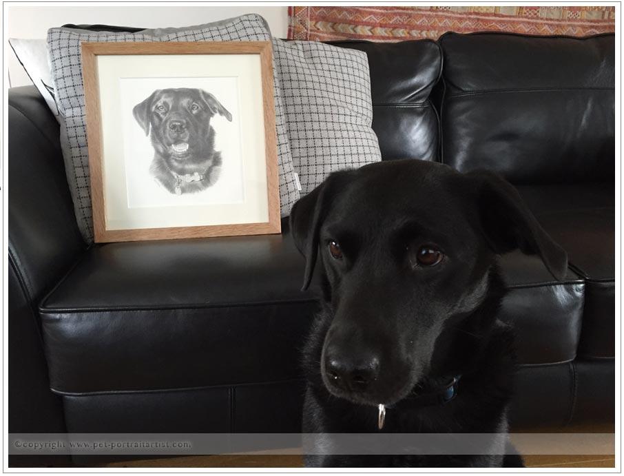 Bea's portrait with Bea!
