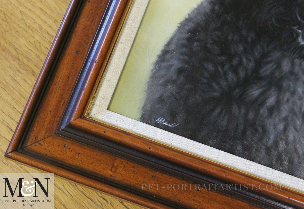 Dog Portrait in Oil of Georgie