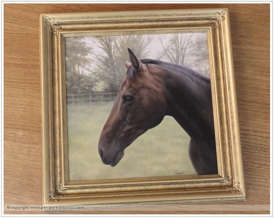Horse Oil Portrait of Kewlia