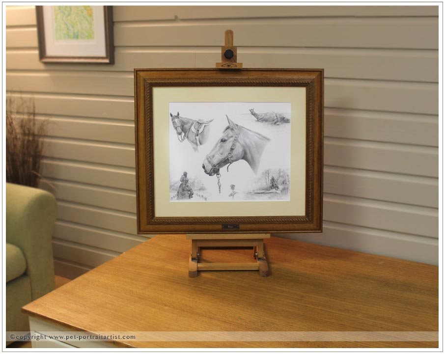 pencil-pet-portrait-montage-framed-1