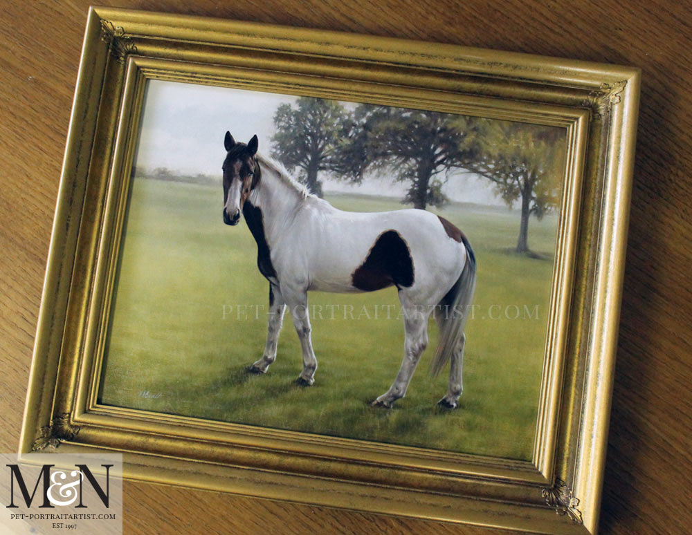 Horse Oil Portrait of Gypsy
