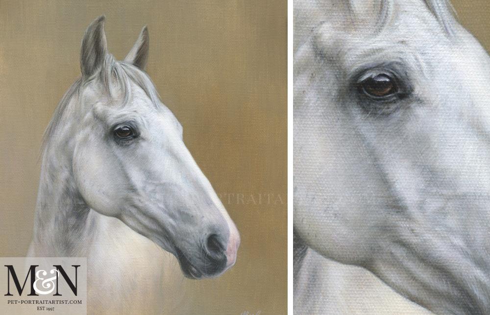 Horse Oil Painting of Artu