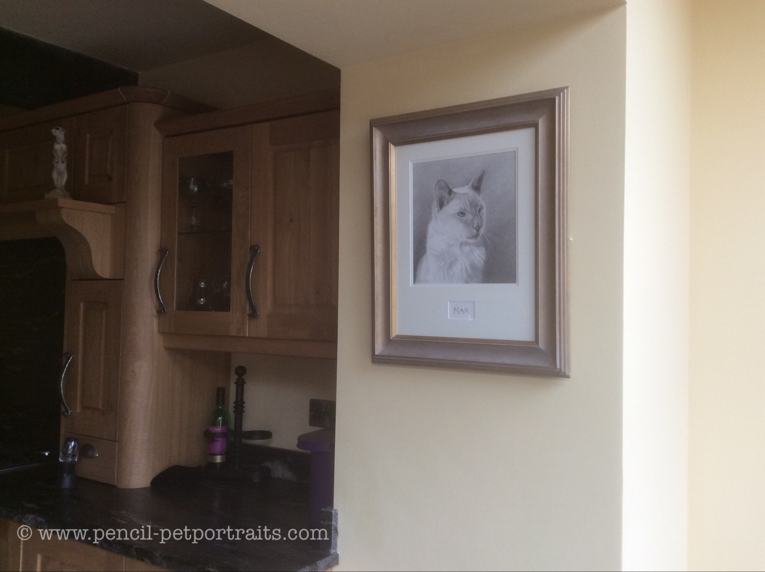 Max Framed and in situ.