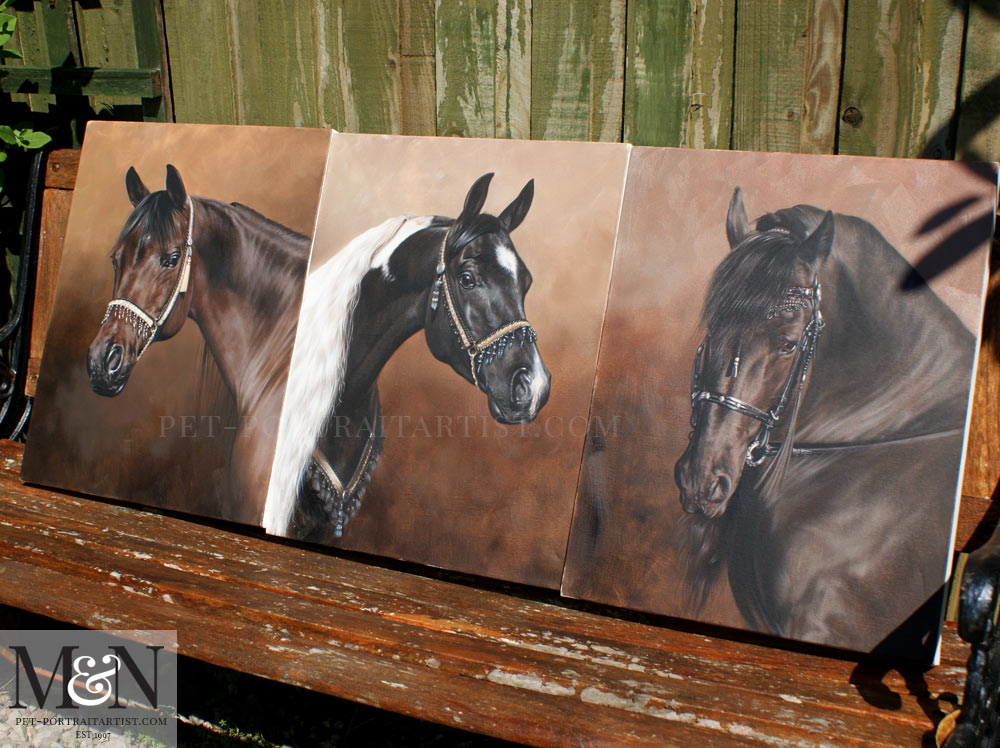 Horse Oil Painting of Remy
