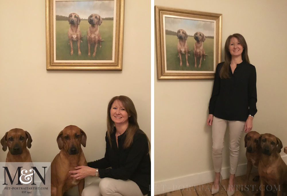 Rhodesian Ridgeback Oil Painting - Happy Clients