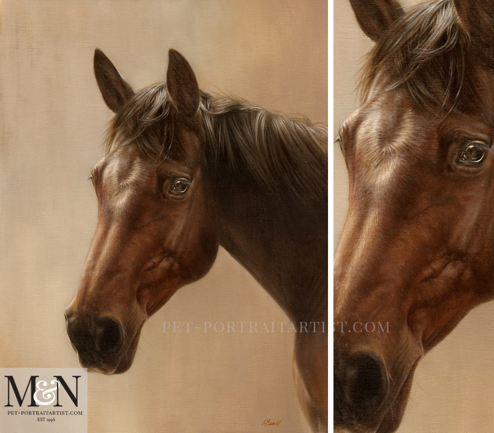 Horse Oil Painting of Chino