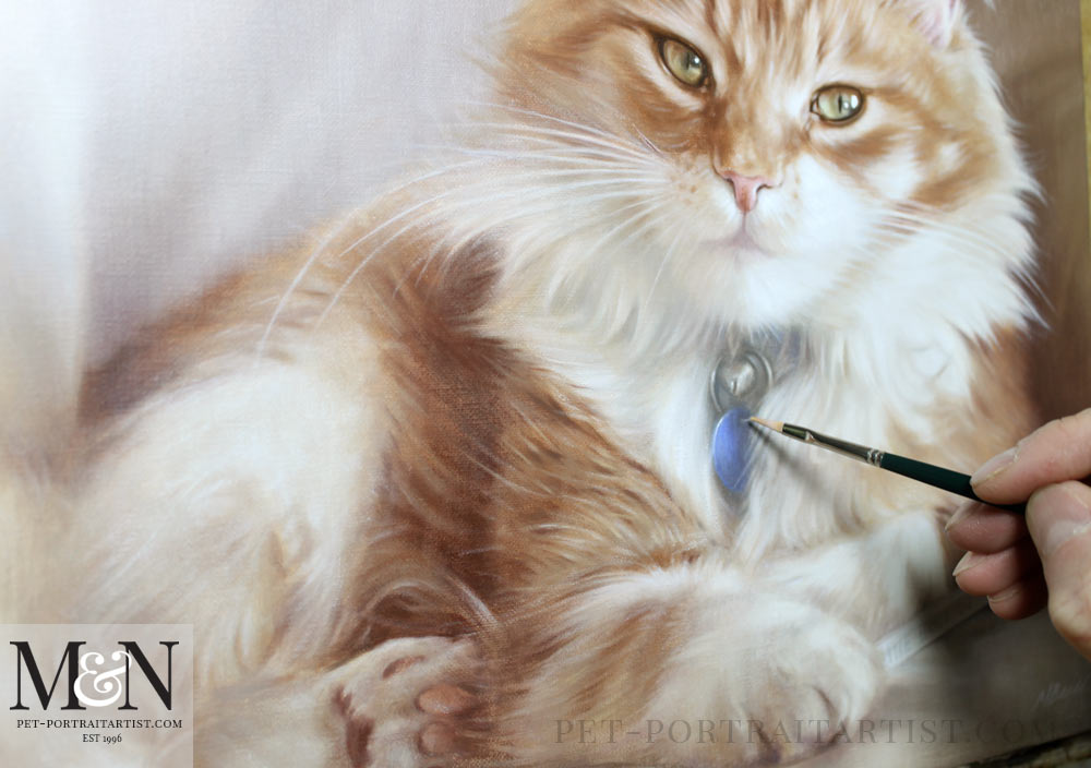 Cat Portrait in Oils