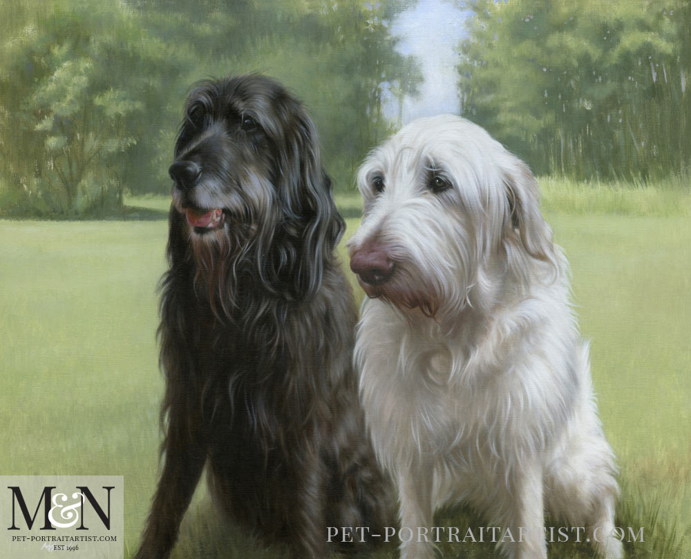 Oil Painting of Pets Harry & Oscar