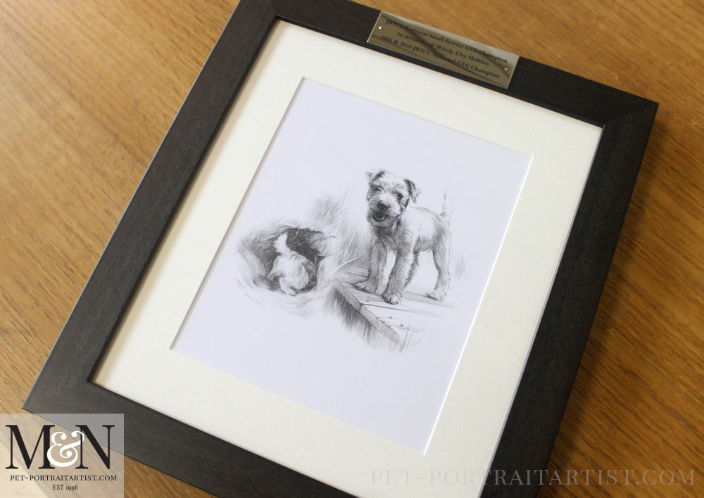 Pet Portraits Engraved Plaques