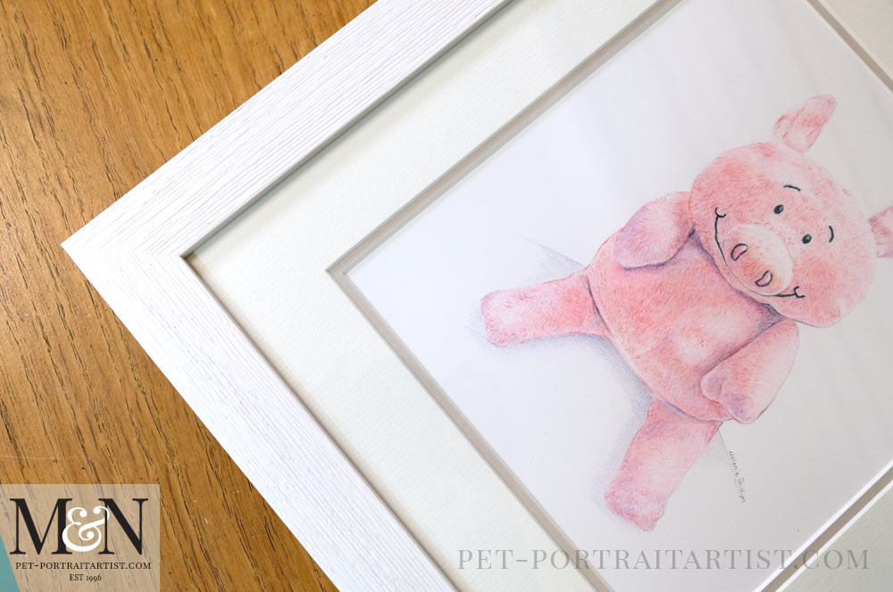 Cuddly Toy Drawing of Piggy