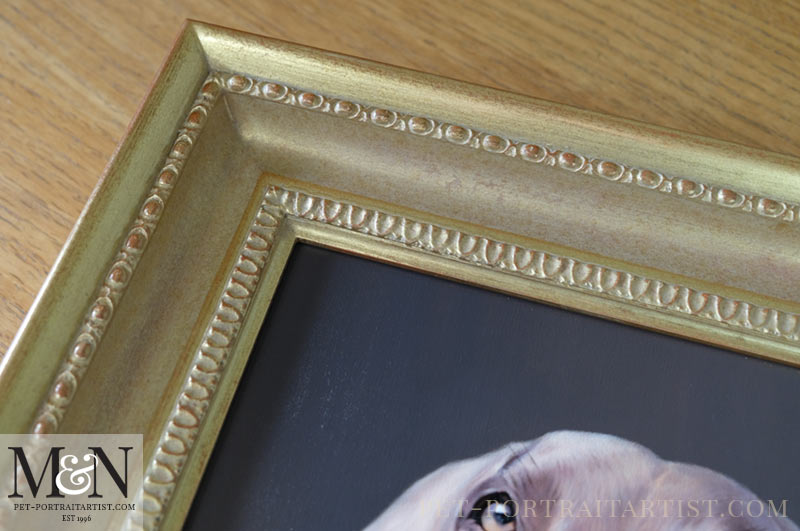 Close up of Gold Frame
