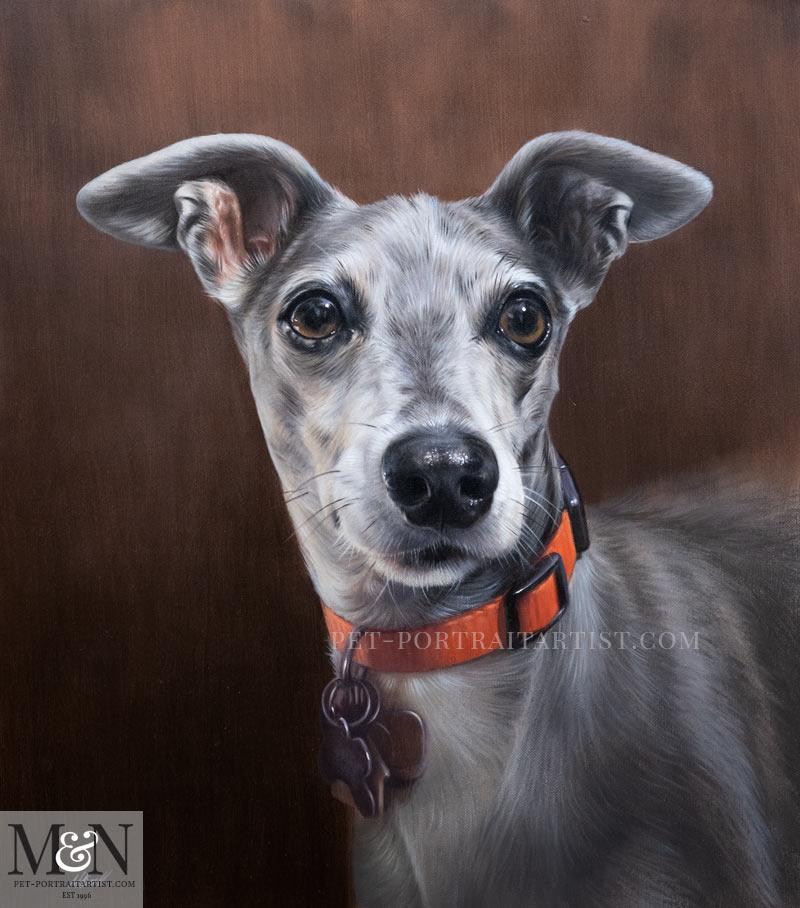 Dog Oil Portrait - Final Photo