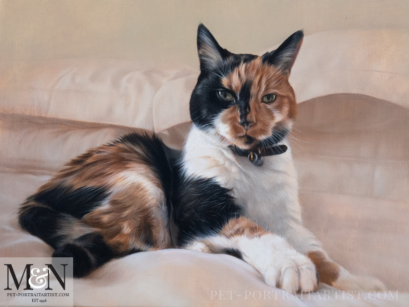 Cat Pet Portraits In Oil Final Painting