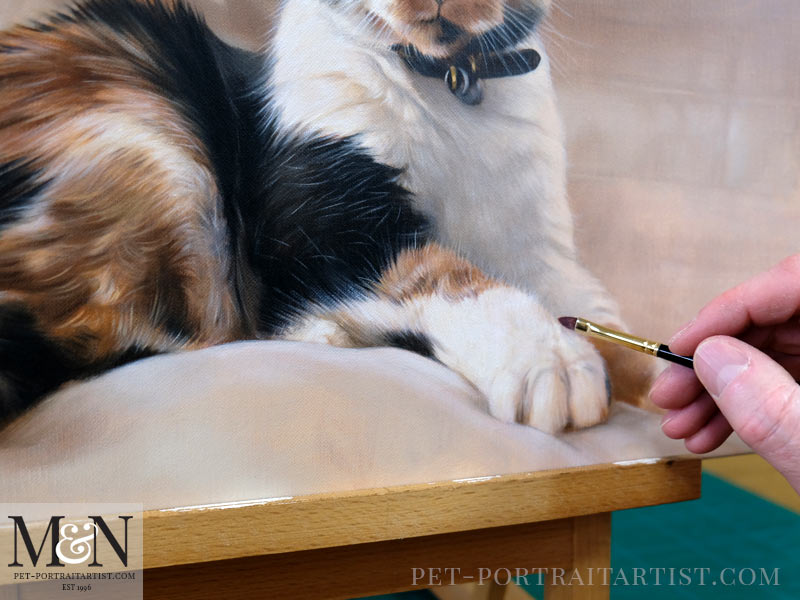 Cat Pet Portraits In Oil Detail