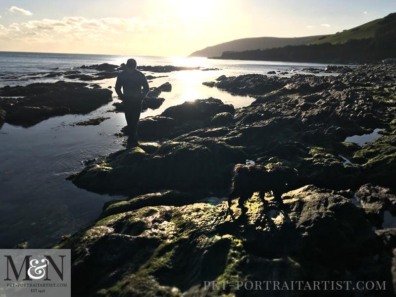 Melanie's February News Sunset in Looe, Cornwall