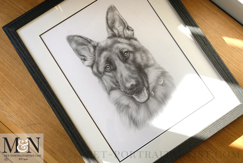 Pencil Drawing Framed in the Osborne Frame
