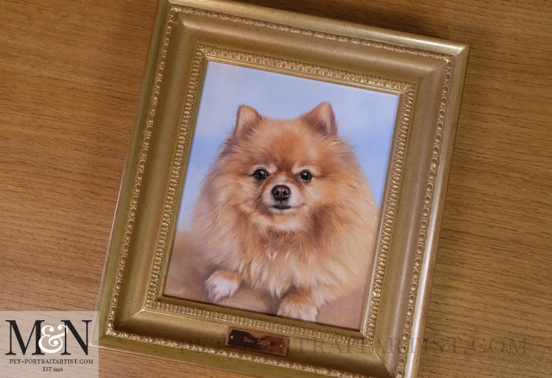 Boo's Oil Painting Framed