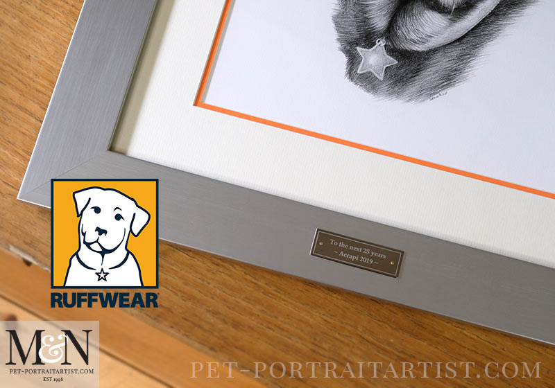 Ruffwear Logo Pet Portrait Framed
