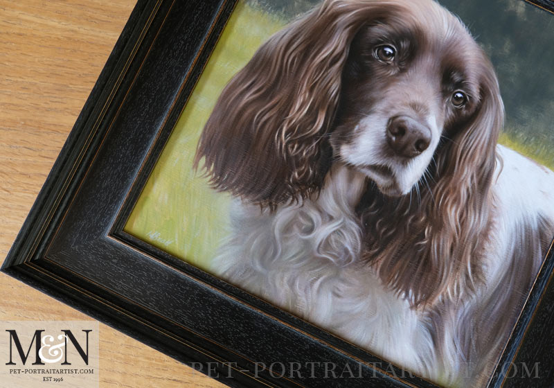 Spaniel Pet Portraits Frame