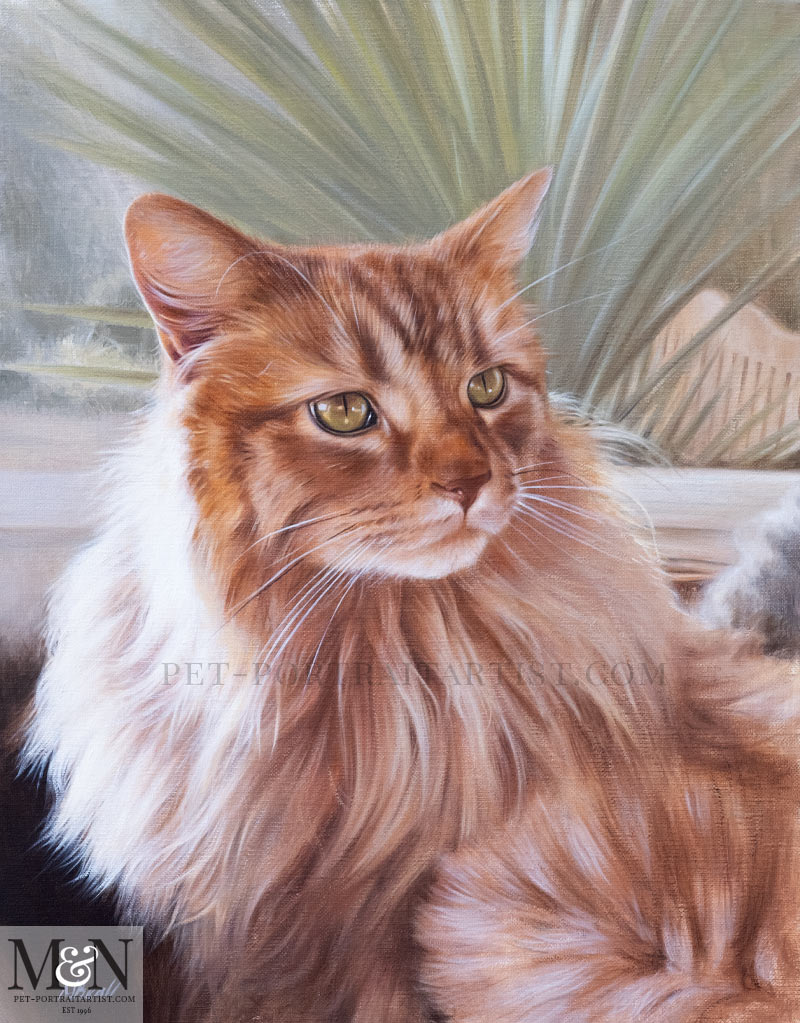 The final photo - Cat Portraits in Oils