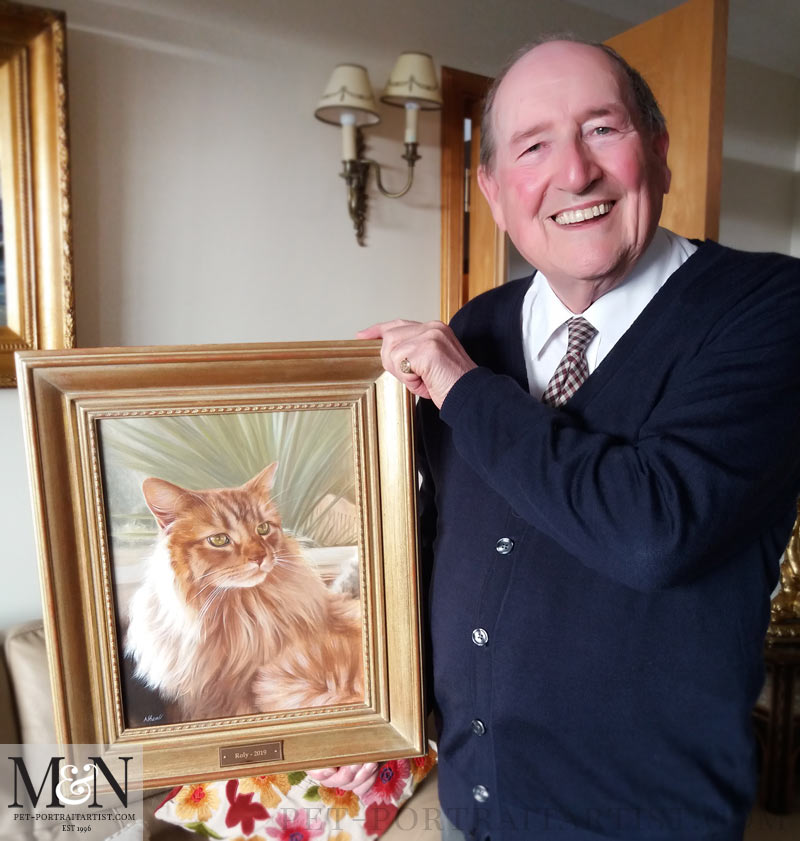 Cat Portraits in Oils - Gordon with his Painting