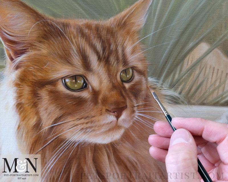Oil portrait in Detail