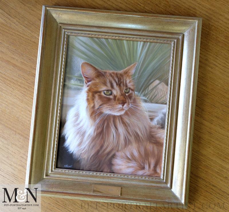 Cat Portrait Framed