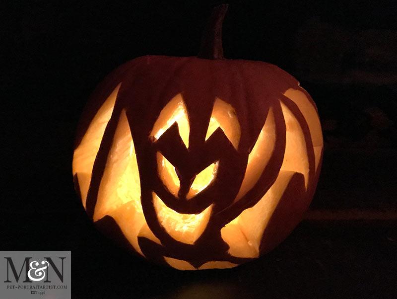 Nicholas' Pumpkin - A bat!
