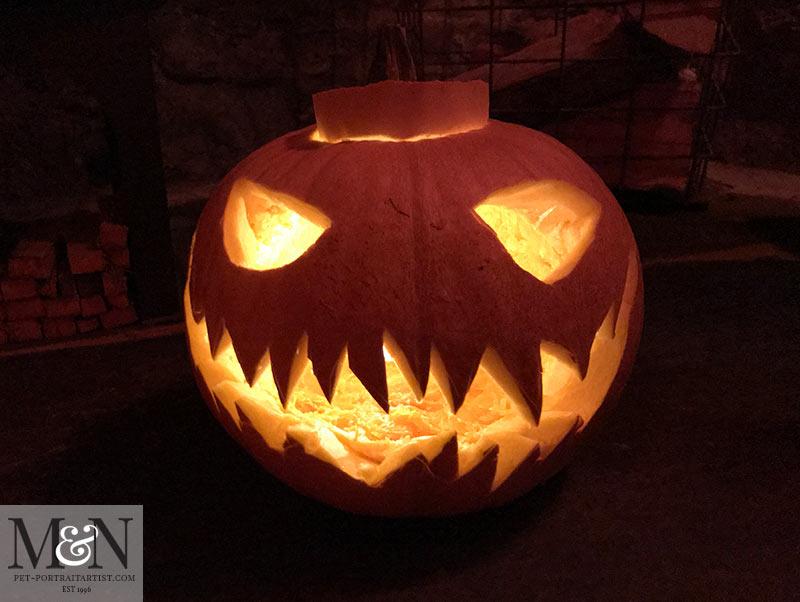 Melanie's Pumpkin - Scary Face!