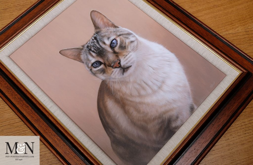 Cat Portrait Framed