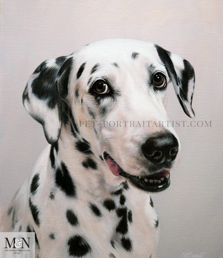 Oil painting of Saffy