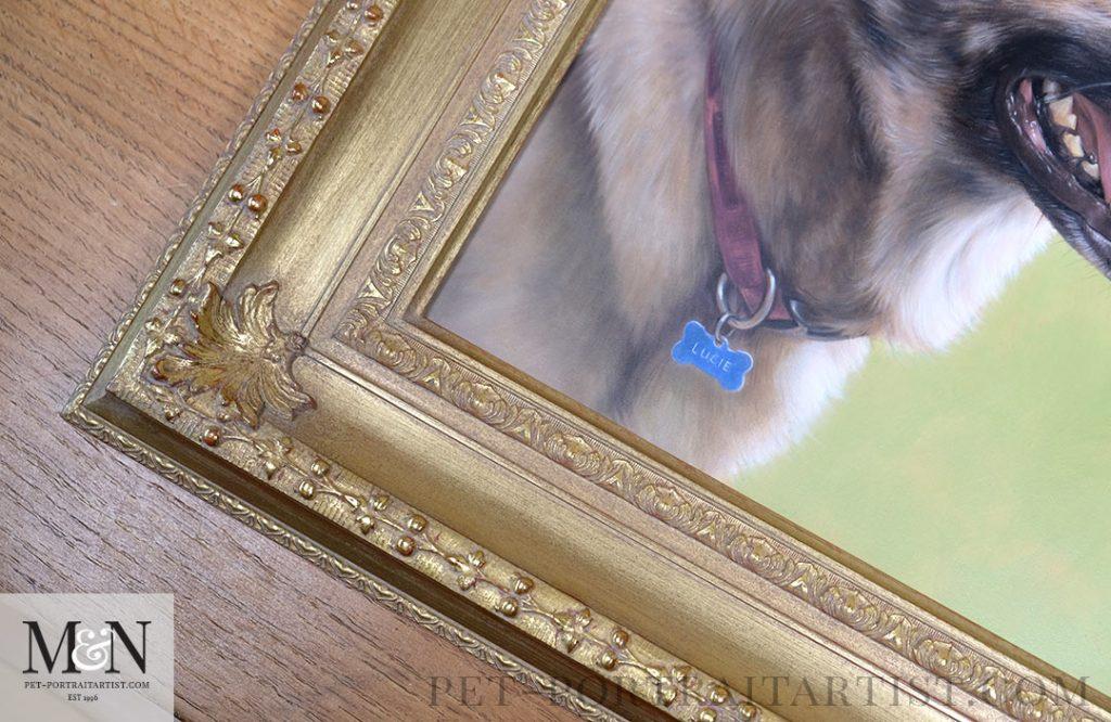Lucie's oil painting framed