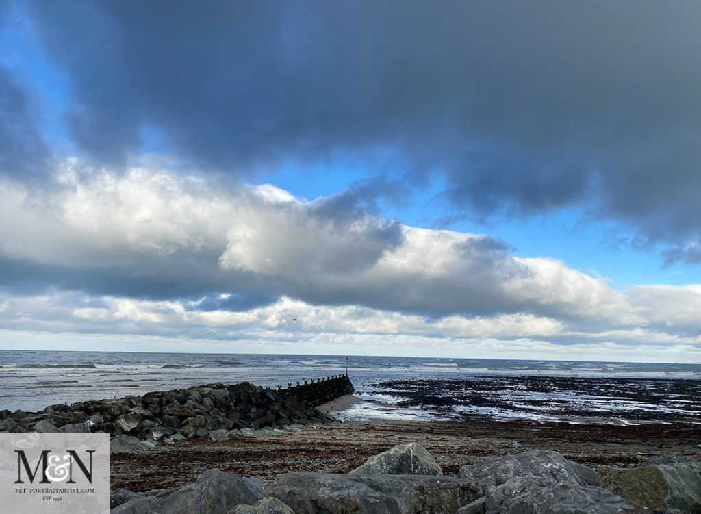 Looking out to sea towards North Wales