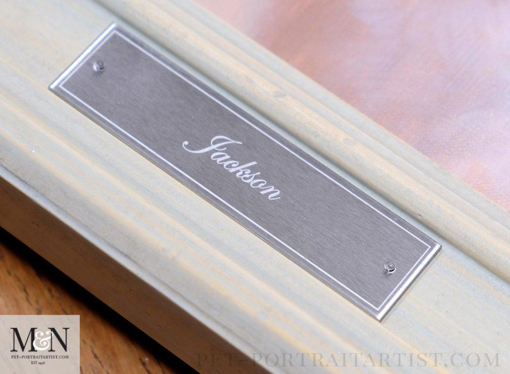 Melanie's December Monthly News - Jackson's Engraved Plaque