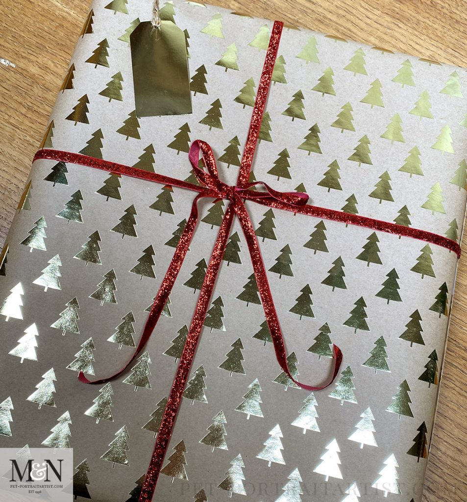Jackson's Painting wrapped with a Bow