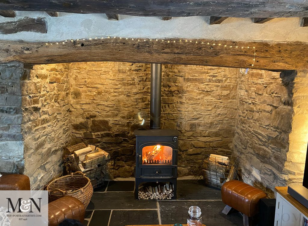 Melanie's December Monthly News - Our Inglenook Fireplace