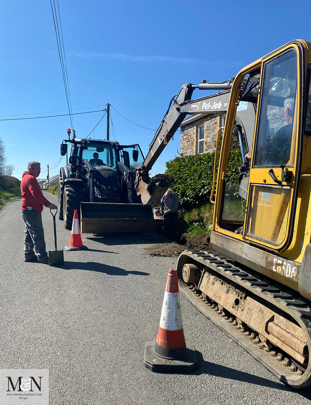 The digger arrived! Melanie's April Monthly News