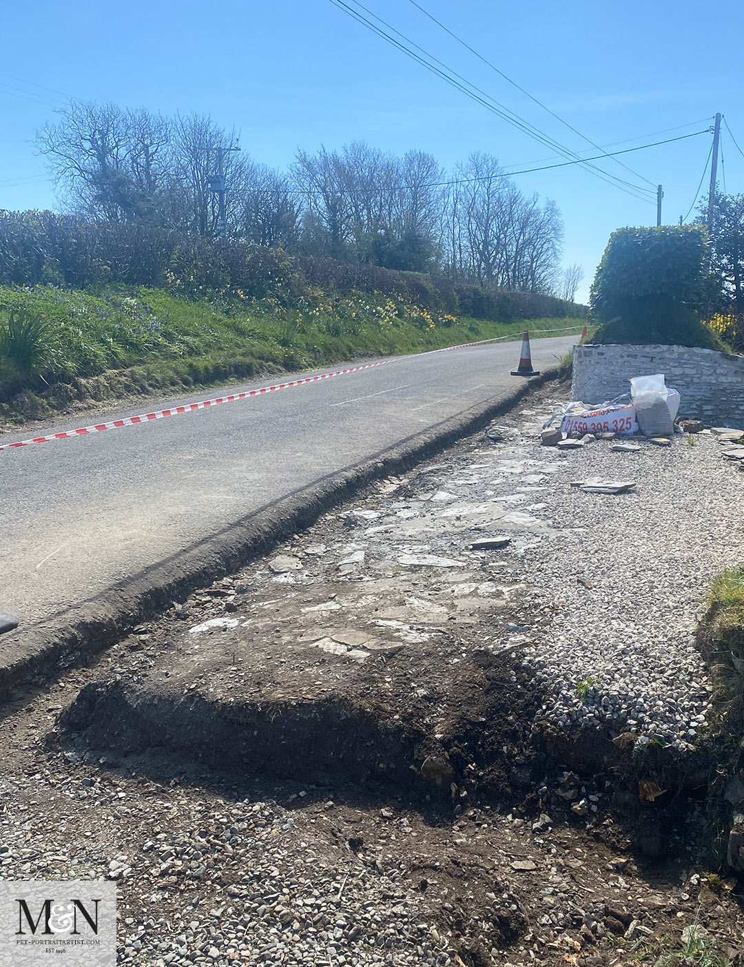 The kerbs to be laid soon!