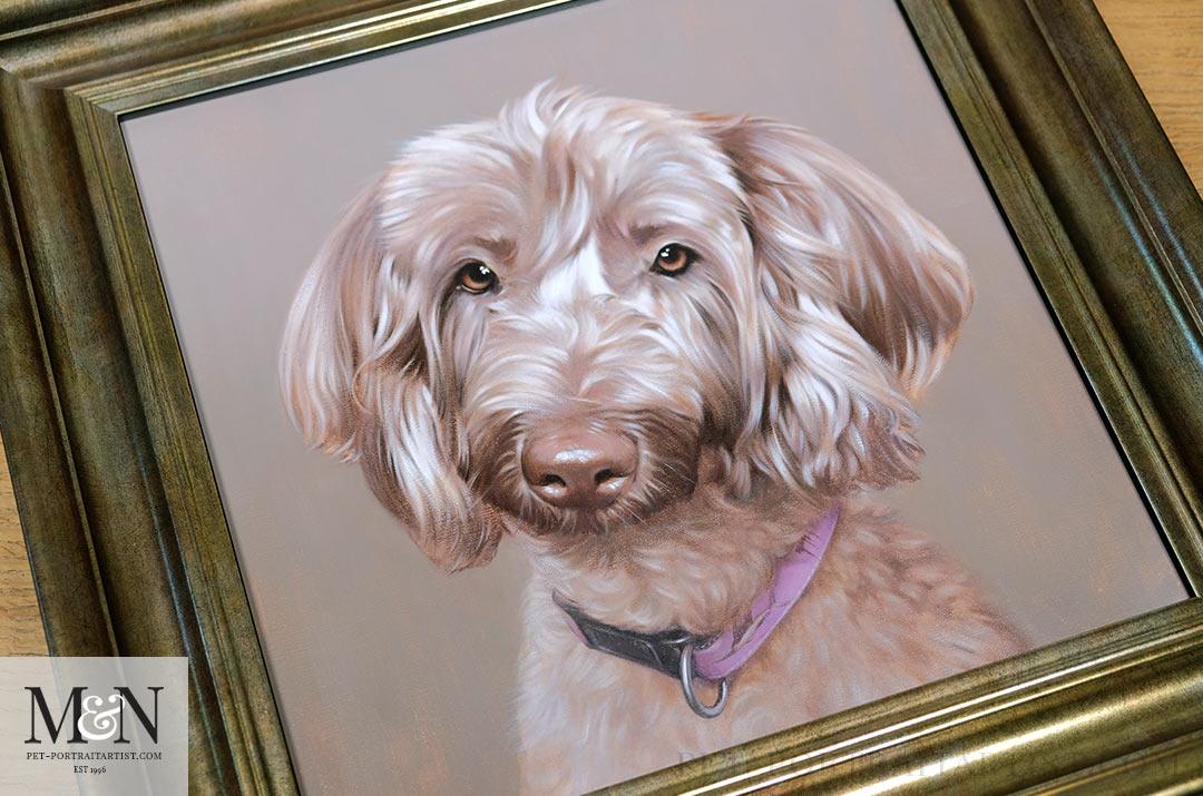Dog portrait in oils - Lexi in Oils